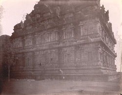 View from north-west corner, showing west elevation of the shrine of the Brihadishvara Temple, Gangaikondacholapuram